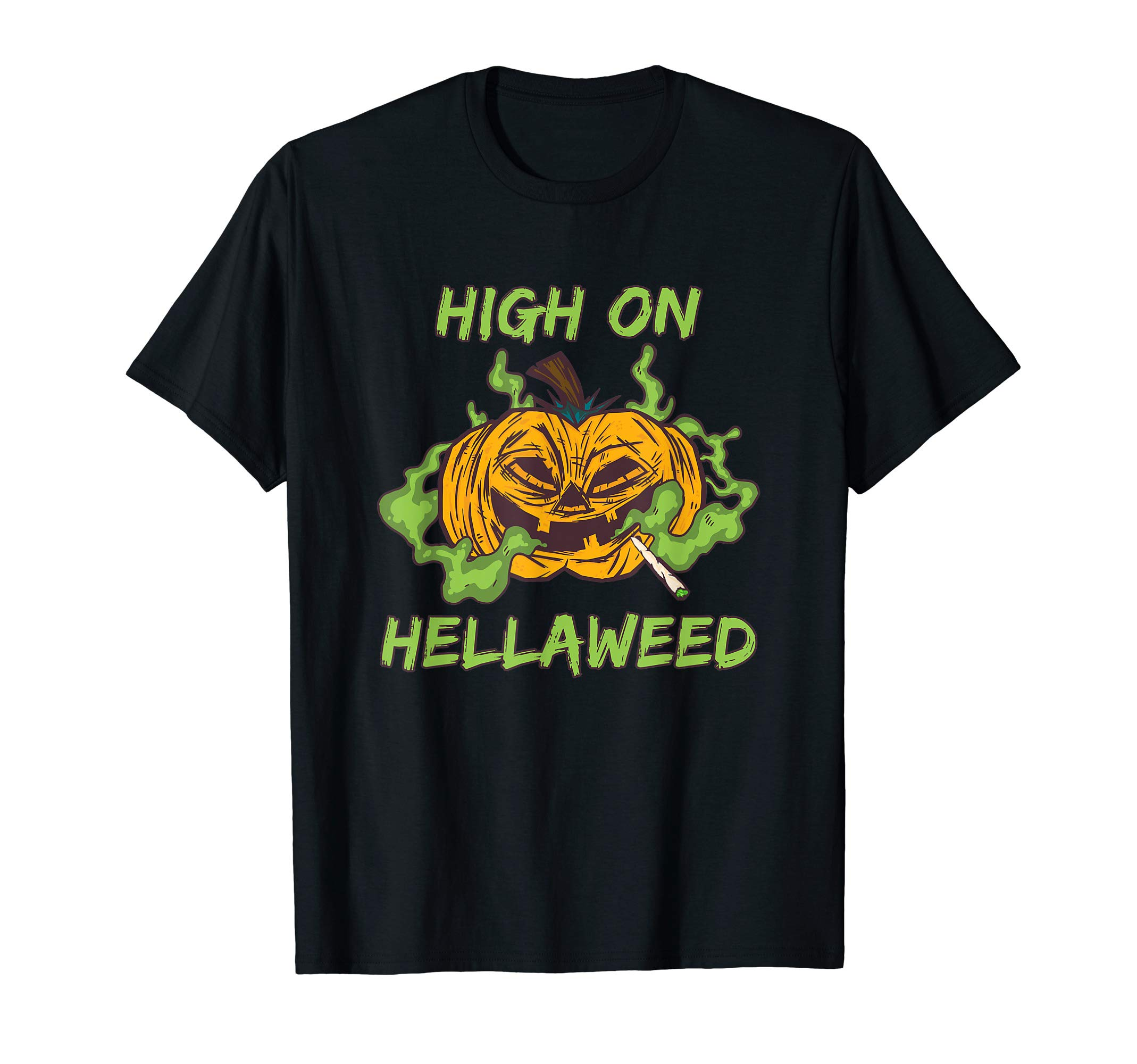 Funny Halloween Costume Stoner Pumpkin Weed & Smokers Gifts T-Shirt