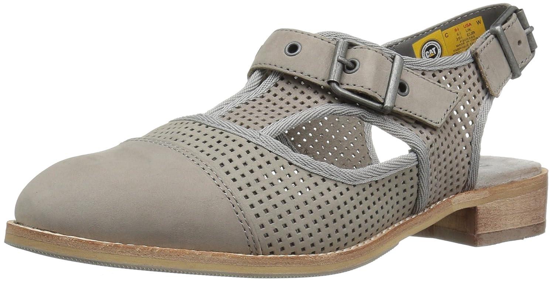 Caterpillar Women's Martine Sling Back Perforated Shoe Flat Sandal B01KIP24SW 8 B(M) US|Grey