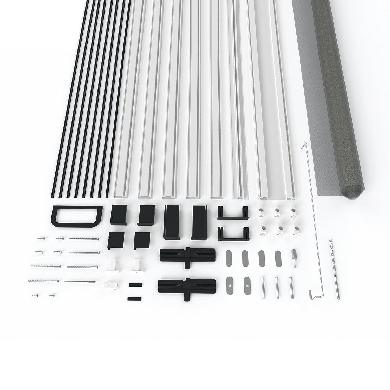 Insektenschutz T/ür Master Slim Fliegengittert/ür in den Varianten Bausatz auf Ma/ß zugeschnitten und komplett aufgebaut Anthrazit oder Braun 100 x 210 cm mit Alurahmen in Wei/ß
