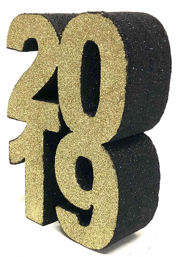 2019 Styrofoam Centerpiece (Gold/Black) by Awesome Event (Image #1)