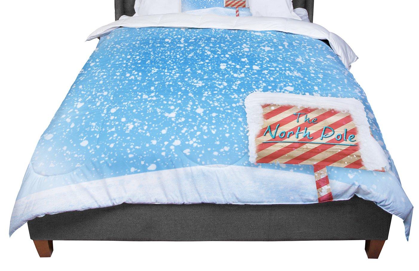 KESS InHouse Snap Studio 'North Pole' Snow Queen Comforter, 88' X 88'