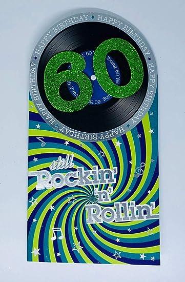 Geburtstagskarte Zum 60 Geburtstag Motiv Rock And Roll Vinyl