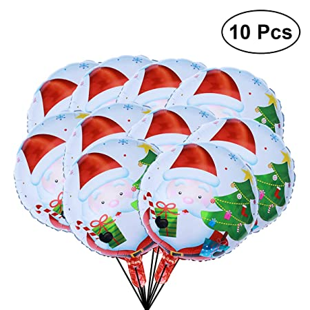 BESTOYARD 10pcs 18 Pulgadas Globo de Navidad balón de Navidad Hoja ...