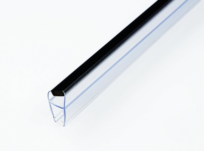 201 cm Bagnoxx Duschdichtung-Set mit 135 Grad Glasstärke 6 mm//8 mm