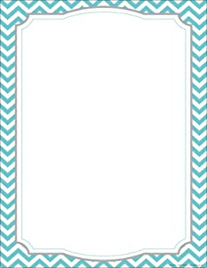 """Barker Creek Designer Computer Paper, Turquoise Chevron, 8.5"""" x 11"""", Decorative Printer Paper, Stationery, 50 Sheets per Pkg, Home, School and Office Supplies (740)"""