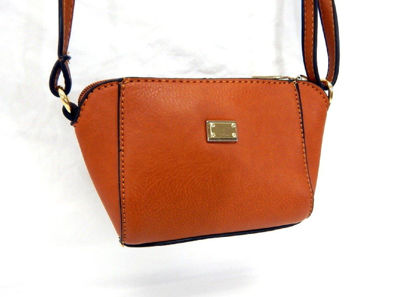 ファッションハンドバッグhs9492b、レディースミニクロスボディバッグトートバッグ財布、タン B06ZZRC65Q