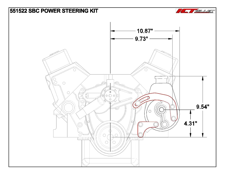 Sbc Power Steering Pump Bracket Billet Adjustable Lwp 1979 Chevy Luv Truck Wiring Diagram 350 Small Block 551522 Automotive