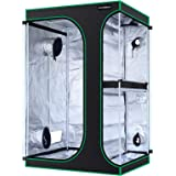 MAXSISUN 2-in-1 4x3 Grow Tent 600D Mylar Hydroponic Indoor Plants Growing Tent with Observation Window and Floor Tray, 48x36x