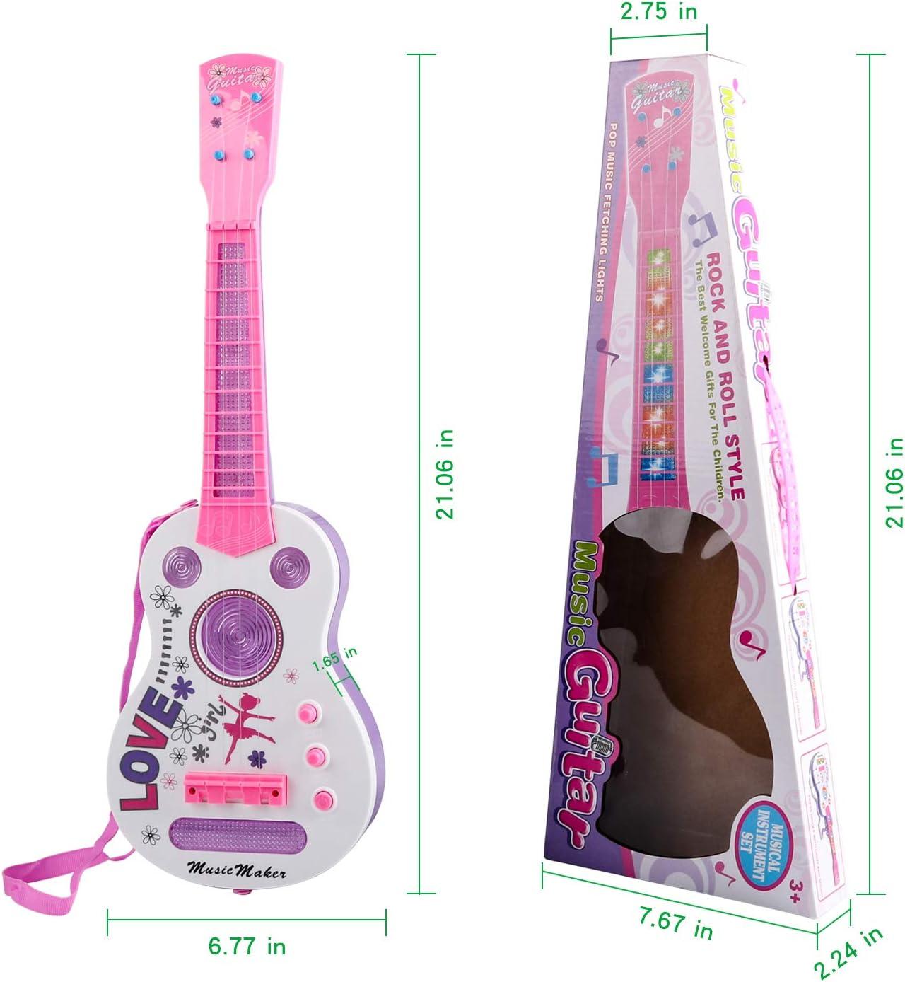 TWFRIC Kids Guitar, Flash Light Kid Guitarra Guitarra eléctrica ...