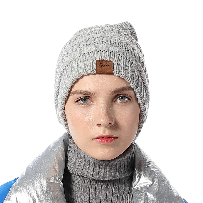 FLY HAWK Cappello Sciarpa Anello in Maglia Invernali da Donna - Berretto  Beanie Sciarpa Loop Knit cee877c98308