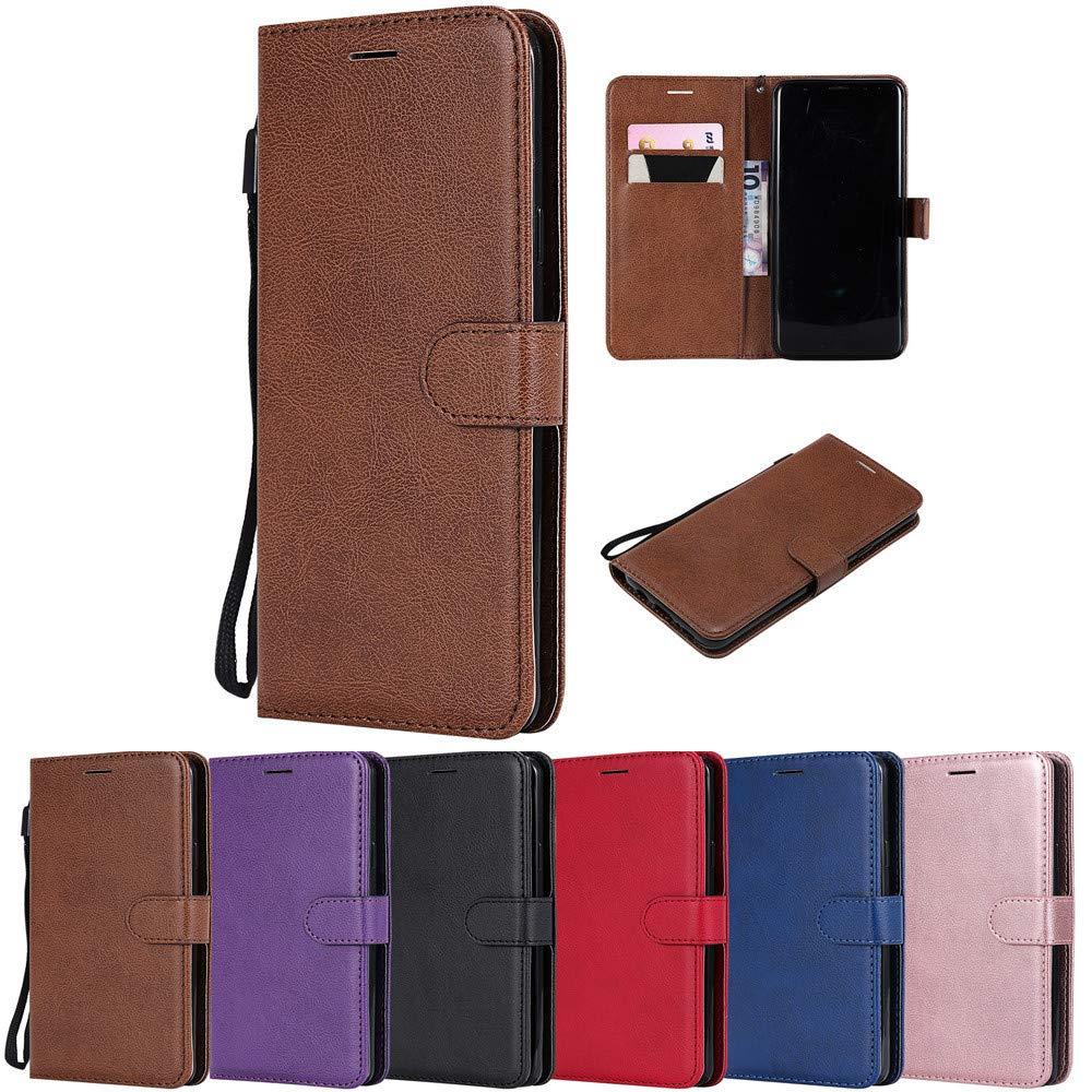 XYX Wallet Case for LG V20,Solid Color PU Wallet Leather Flip Case for LG V20/LG V 20 (Brown)