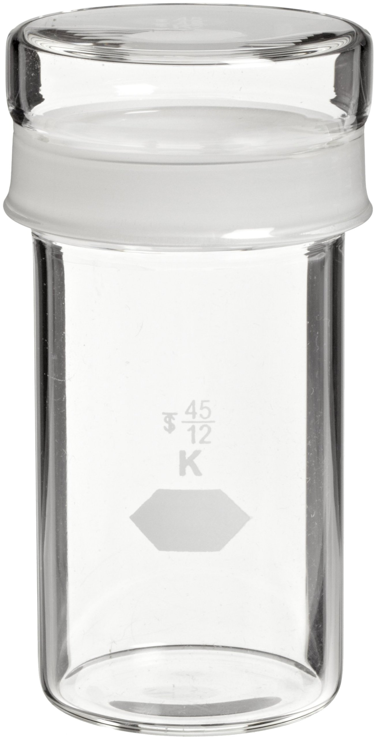 Kimax, Tall Cylindrical Weighing Bottle With Short Length Joints 40 x 80mm, 70mL (Pack of 6)