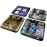 "Doctor Who CSP0009 ""Tardis/Cyberman/Dalek/Comic"" Coaster Set (Pack of 4)"