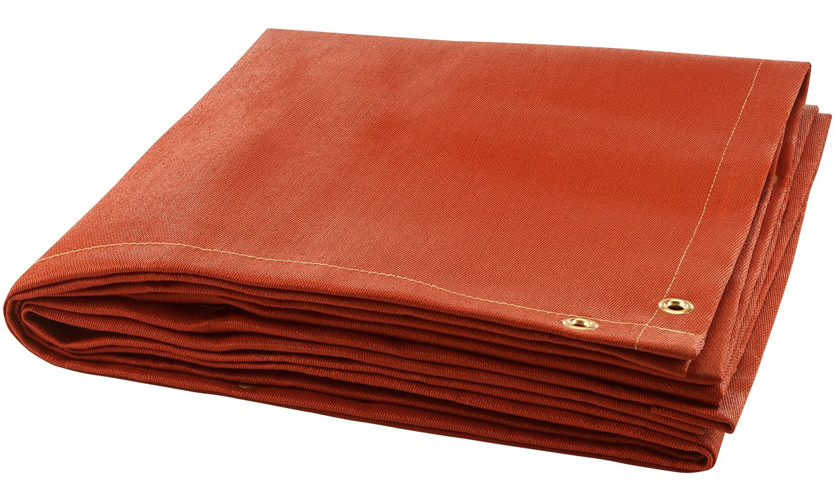 Steiner 379-6X6 Red Silicone 32-Ounce Silicone Coated Fiberglass Welding Blanket, Red, 6' x 6'
