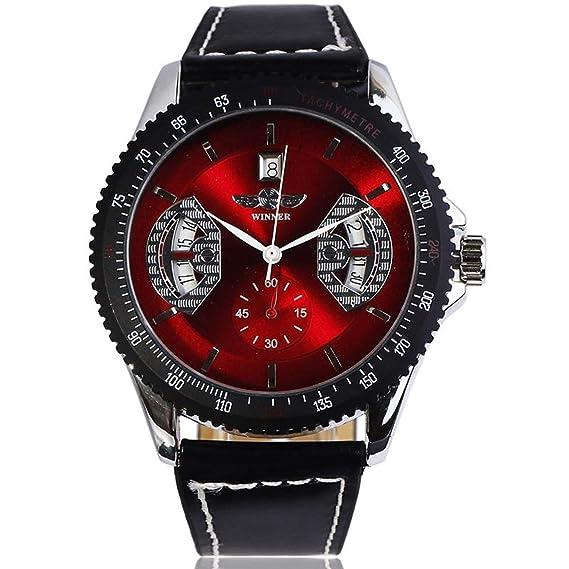 Winner - Reloj de Pulsera mecánico automático con Fecha para Hombre