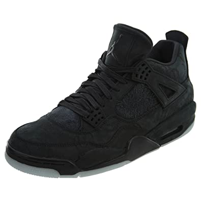new product 57be2 182e4 Amazon.com | Jordan 4 Retro KAWS Black | Basketball