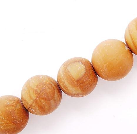 Natural 8mm Plum Flower Jasper Matte Round Beads Genuine Gemstone