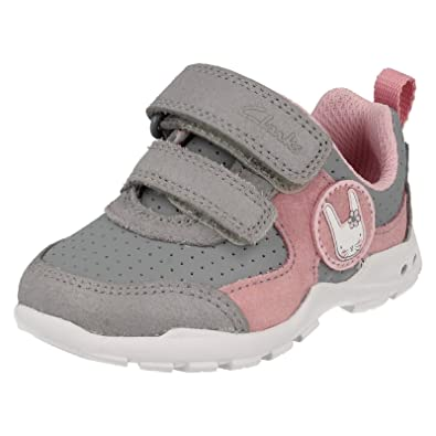7477df473cc7 Clarks Infant Girls First Trainers Flashing Lights Brite Wizz ...