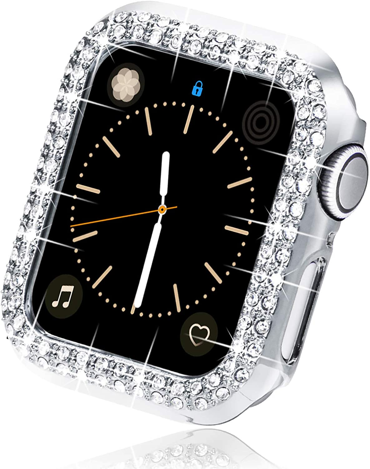 Surace 42mm Case Compatible with Apple Watch Case, Bling Frame Protective Case Compatible for iWatch Series 3/2/1, Silver