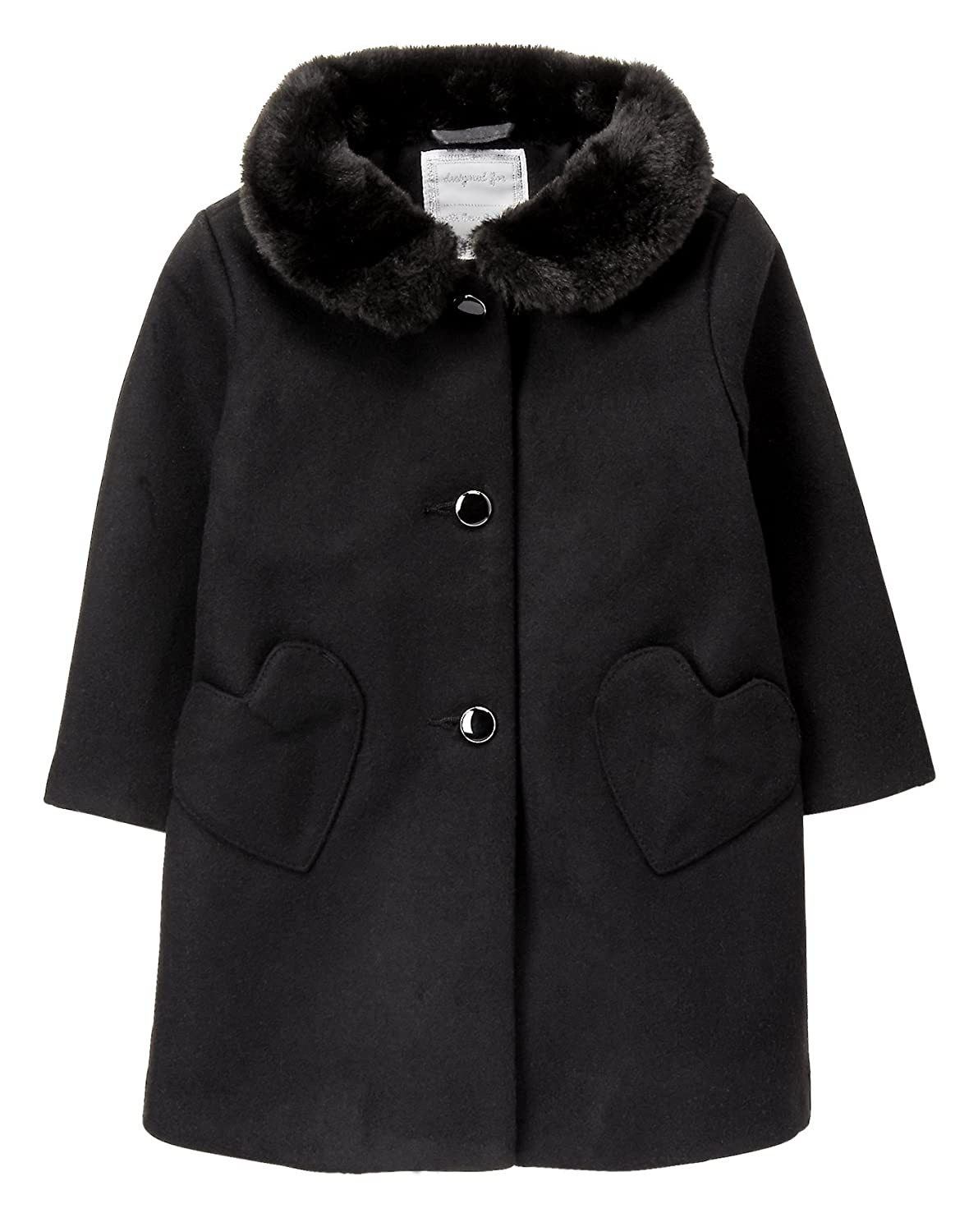 Gymboree Girls' Toddler Black Dressy Coat
