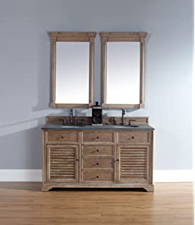 spectacular fairmont designs rustic chic vanity. Double Vanity Cabinet in Driftwood Finish Fairmont Designs 142 V6021D Rustic Chic 60 Inch Bowl