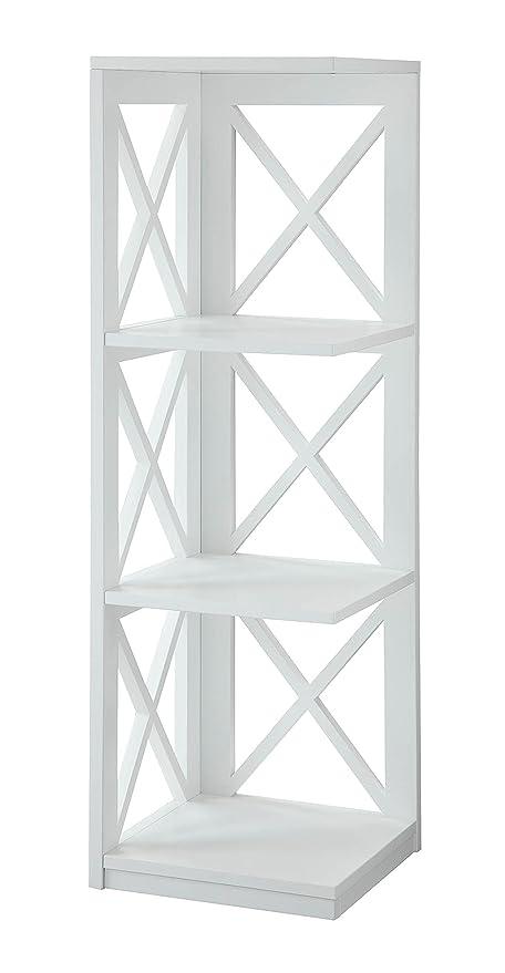 Convenience Concepts Oxford 3 Tier Corner Bookcase White