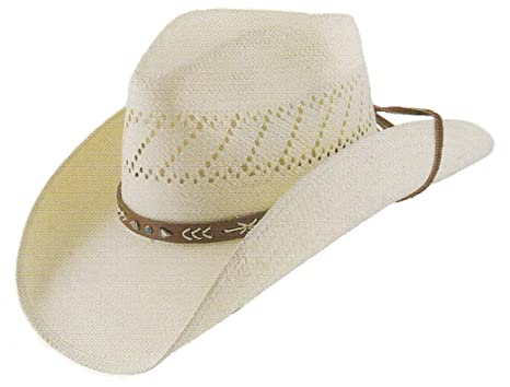 Stetson Mens Woven Contrast Trim Cowboy Hat at Amazon Men s Clothing ... 717c09f4b