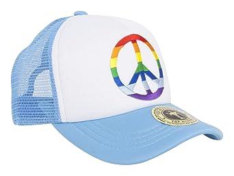 6854bfcb108 Trucker Foam Rainbow Mesh Snapback - Light Blue at Amazon Men s Clothing  store