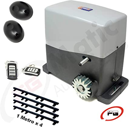 Kit motor puerta de corredera, modelo VDS AG FUTURE 800 Kg, incluye motor, 2 mandos, placa de control, 4 metros de cremallera, fotocélula y manuales de instalación.: Amazon.es: Bricolaje y herramientas