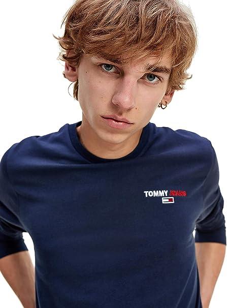 TALLA XS. Tommy Jeans Tjm Longsleeve Corp Tee Camisa Hombre