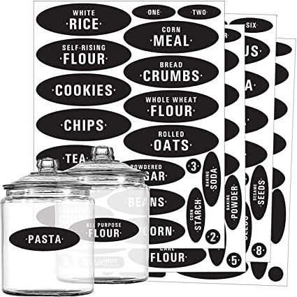 amazon com pantry labels 84 preprinted blank chalkboard kitchen