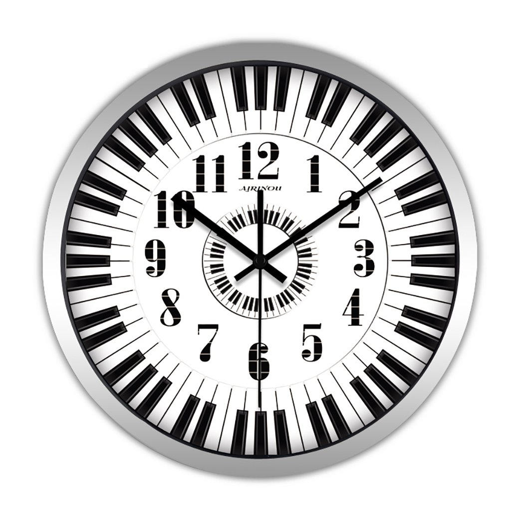 リビングルームクリエイティブ現代のミニマリストの時計クォーツ時計ハンギング表寝室ラウンドミュートウォールクロック (色 : 1, サイズ さいず : 12in) B07FVD739P 12in|1 1 12in