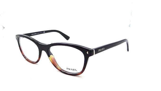17032bccd447 Image Unavailable. Image not available for. Colour  Prada Rx Eyeglasses  Frames Vpr 05r Tka-1o1 53x17 Black Tortoise ...