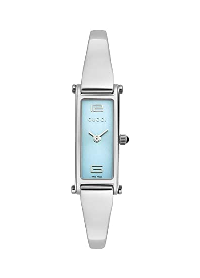d9234686886 Gucci Women s 1500 Series YA015535 Stainless-Steel Swiss Quartz Watch with  Blue Dial  Gucci  Amazon.ca  Watches