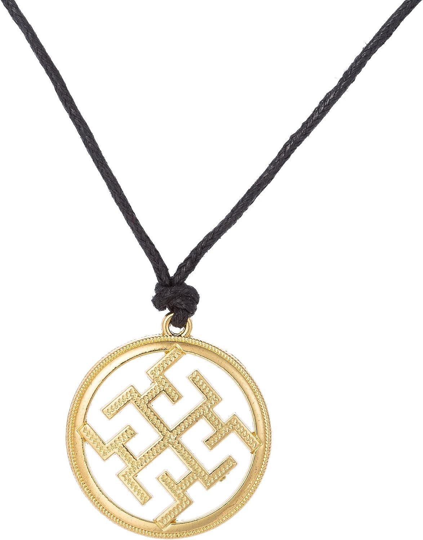Amazon Com Fishhook Religious Slavic Dukhobor Pattern Amulet Rune Protection Meaning Pendant Necklace Gold Jewelry
