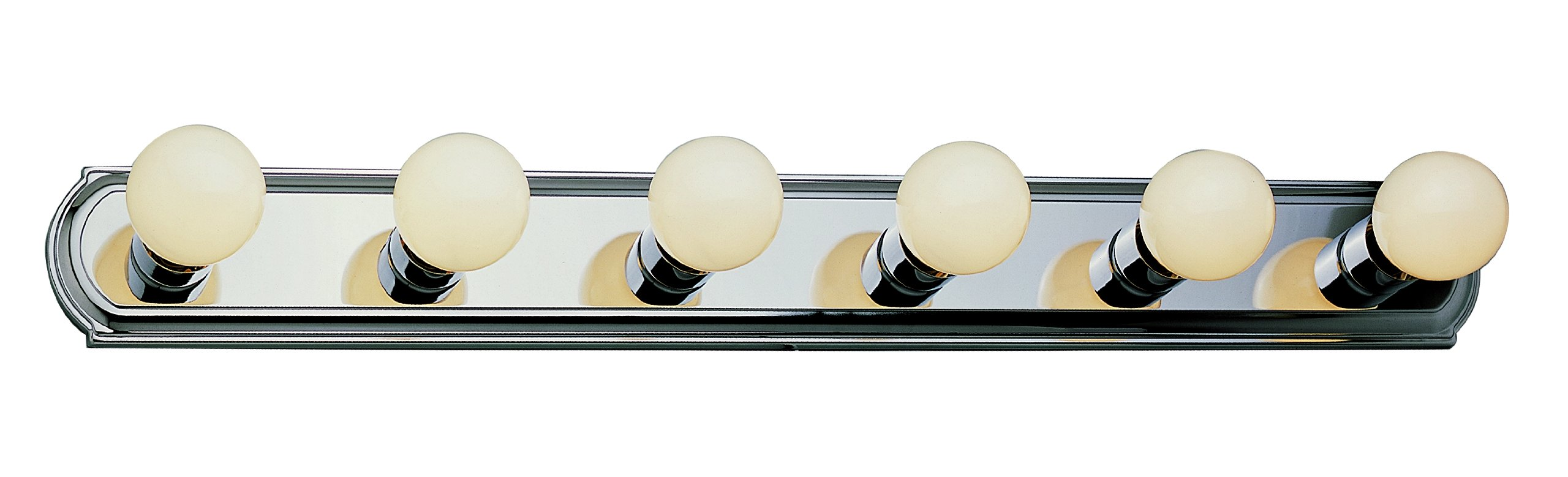 Trans Globe Lighting 3236 ROB 6-Light Basic Strip Bathroom Bar Light, Rubbed Oil Bronze - Easy installation Uses medium base bulbs Hollywood racetrack light - bathroom-lights, bathroom-fixtures-hardware, bathroom - 71SUGT46tQL -