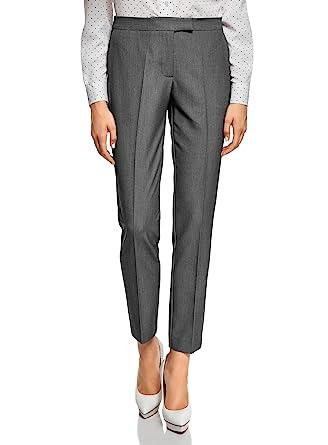 1f94e4469 oodji Collection Femme Pantalon Classique Slim Fit