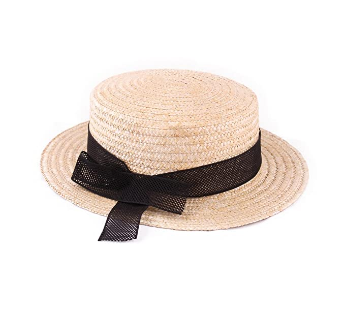 2bea541b9e2 Classic Italy - Boater Hat Men L Équinoxe - Size 63 cm  Amazon.co.uk   Clothing