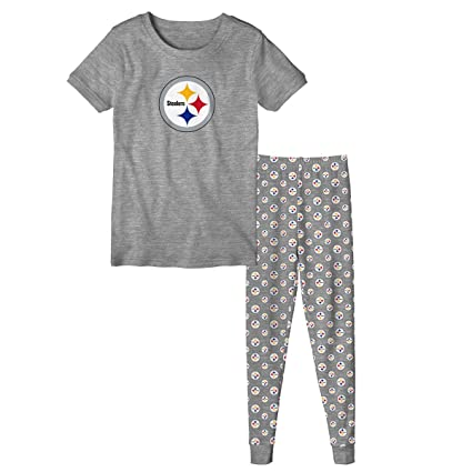 Image Unavailable. Image not available for. Color  Outerstuff Pittsburgh  Steelers Youth NFL Playoff Bound Pajama T-shirt   Sleep Pant Set 73c027f04