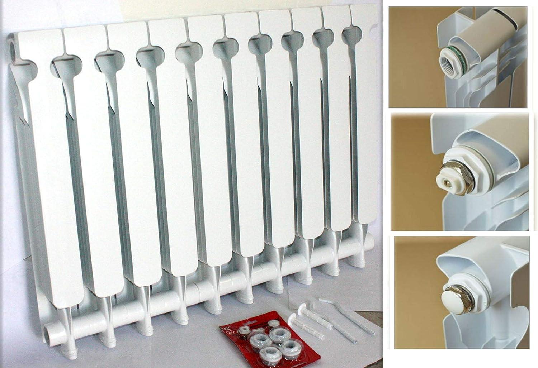 9TRADING 11000 BTU Bimetal Wall-Hung Aluminum Heating Radiator Heater 4 Hydro Greenhouse
