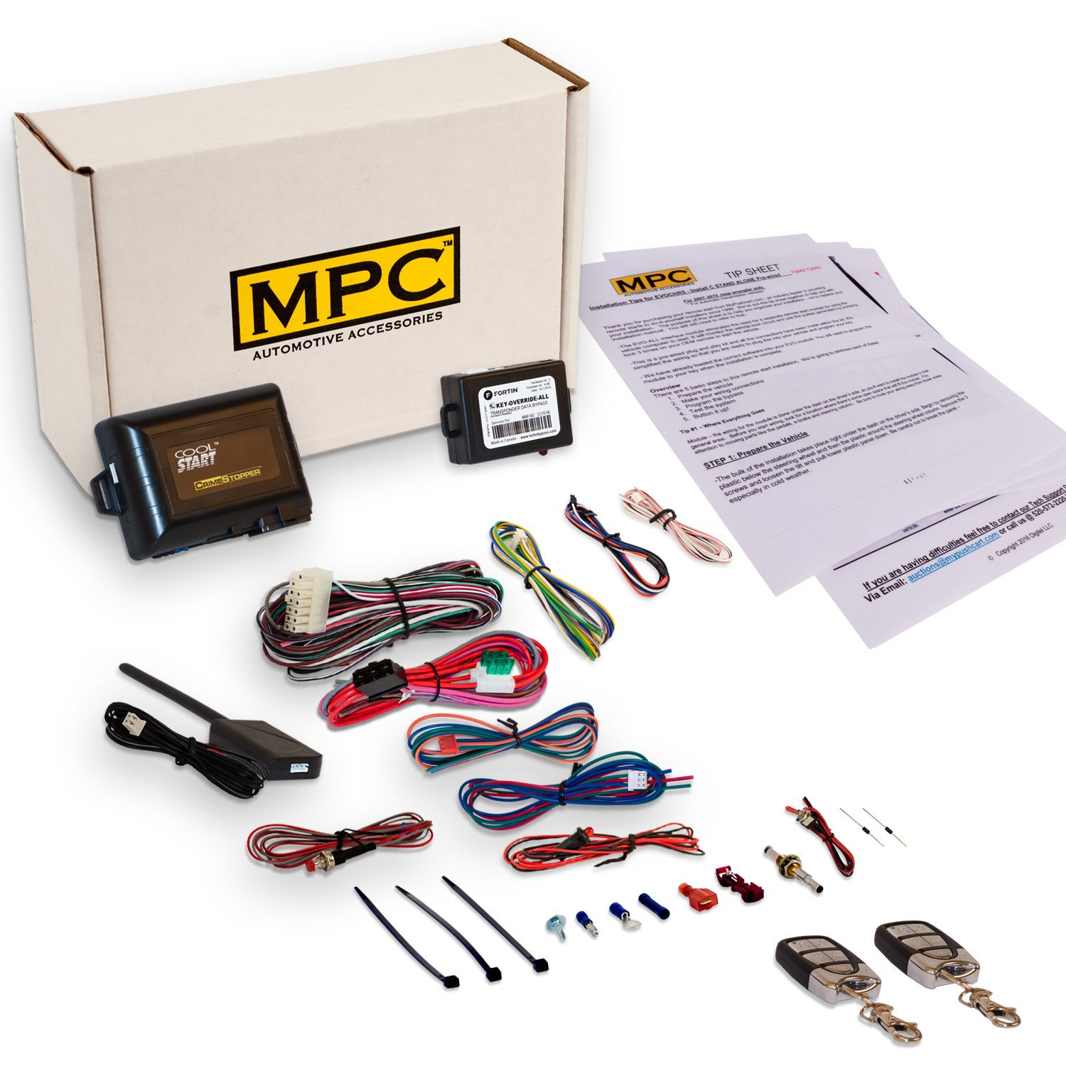 Amazon.com: MPC Complete Remote Start & Keyless Entry Kit Fits ...
