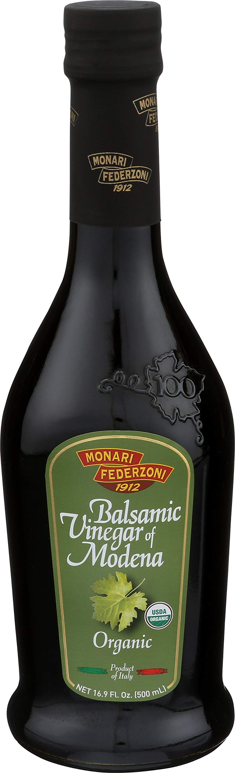 Monari Organic Balsamic Vinegar of Modena, 17-Ounce (Pack of 6)