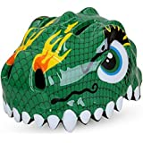 Bicycle Cycle Cycling Bike Helmet for Toddler Child Children Kids Safety Protection,Ultralight Breathable Sport Bike Helmet for youth boy girl Age 3-12 - Dinosaur Green