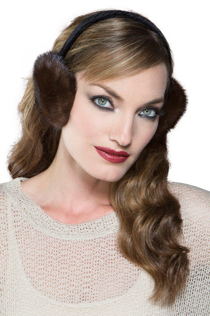 Lenore Marshall Women's Mahogany Mink Fur Earmuffs