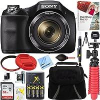 Sony Cyber-shot DSC-H300 Black Digital Camera + 32GB Memory Card, Battery & Accessory Bundle