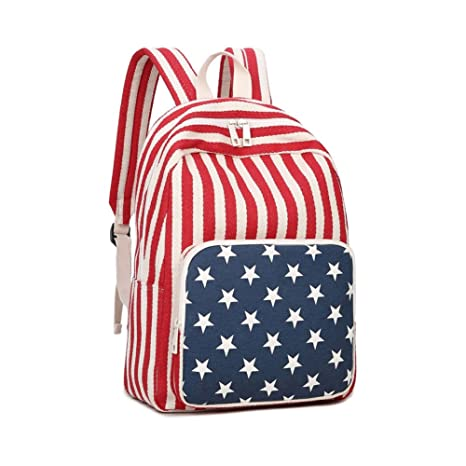 Amazon.com  American Flag Backpack - Durable Colorful Slim Small ... ac219f5d0f
