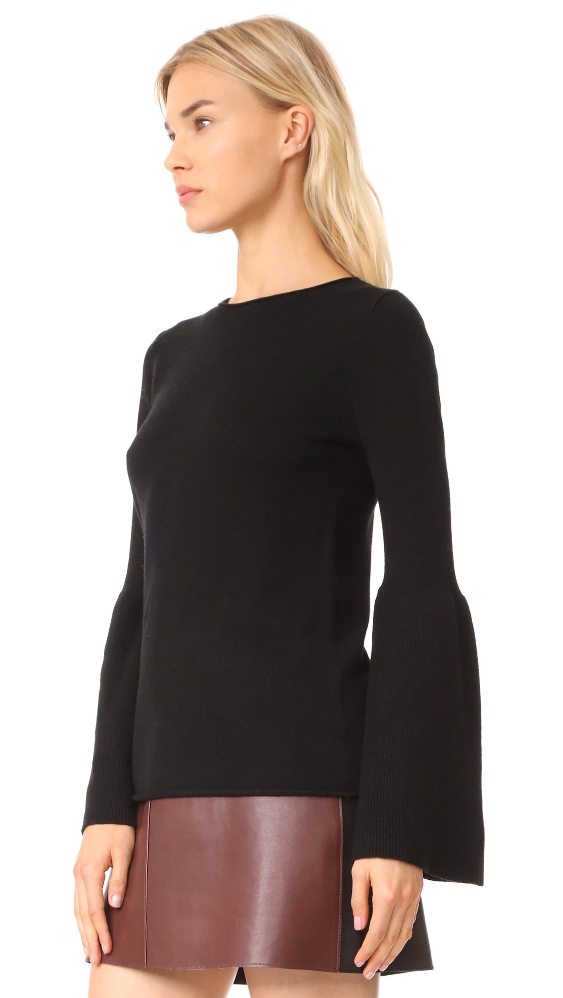 LINE Women's Fiona Bell Sleeve Sweater, Caviar, Large by LINE (Image #3)