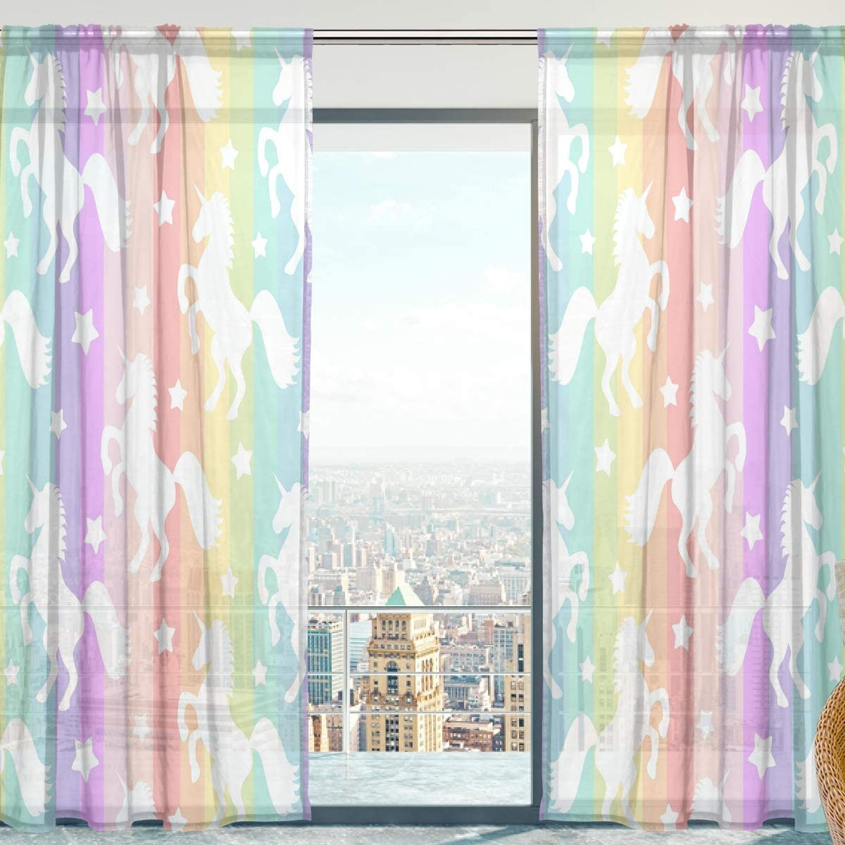 SENYA-Window-Curtain-Panels-With-Colourful-Stripes-For-Rooms