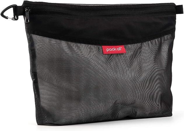 Catch-All Fully-Lined Zipper Pouch Purse Organizer GreenAqua Filigree