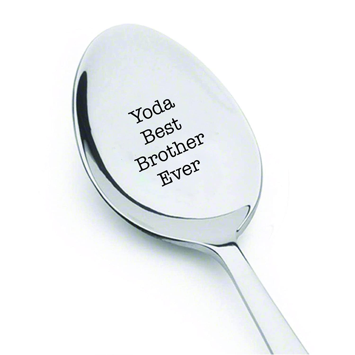 Best Selling Item Star Wars Gift under 20 Gift for him brother Birthday gift brothers Gift Yoda Best brother Ever 7 Inches engraved spoon Customized spoon